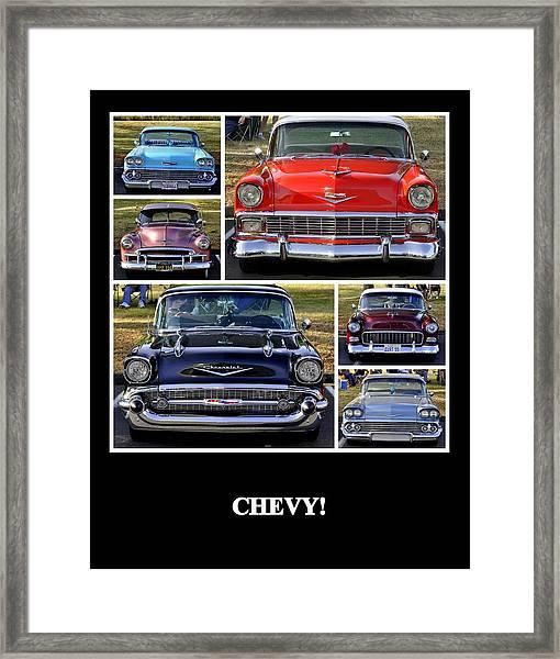 Chevy Framed Print