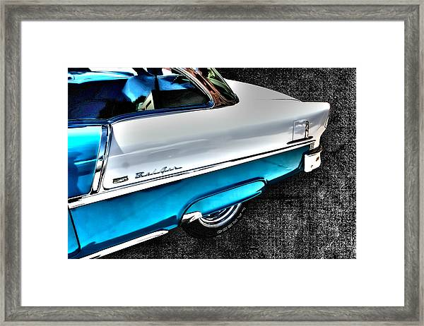 Chevy Bel Air Art 2 Tone Side View Art 1 Framed Print