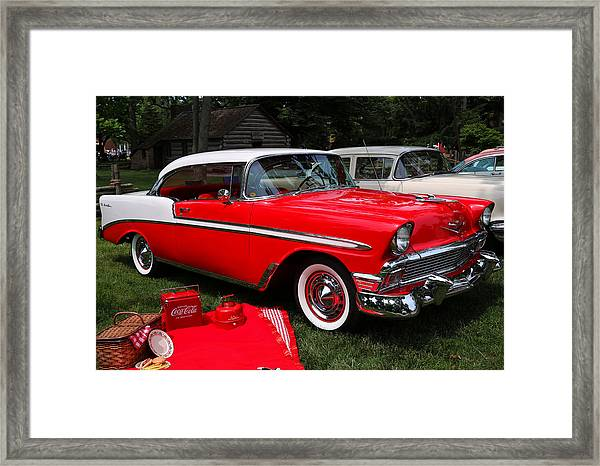 Chevy Bel Air In Red Framed Print