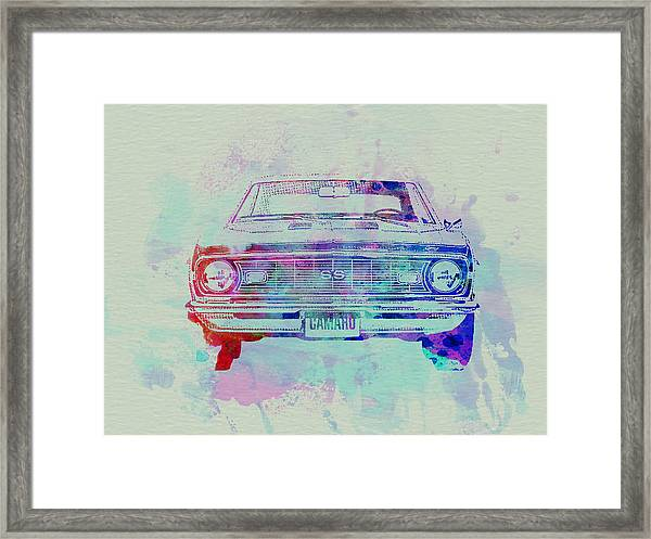 Chevy Camaro Watercolor 2 Framed Print