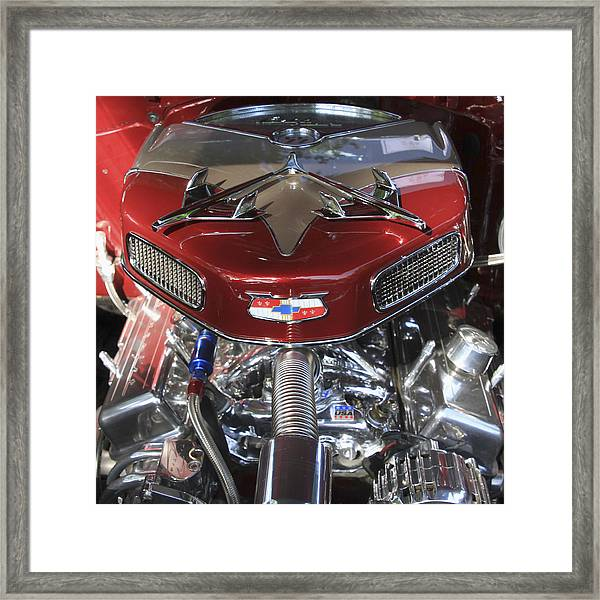 Framed Print featuring the photograph Chevy Engine by Bob Slitzan
