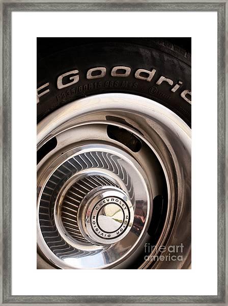Chevy Wheel Framed Print
