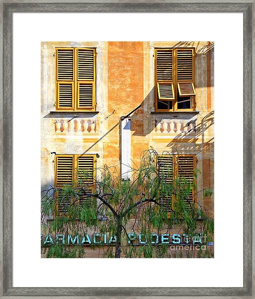 Chiavari Windows Framed Print