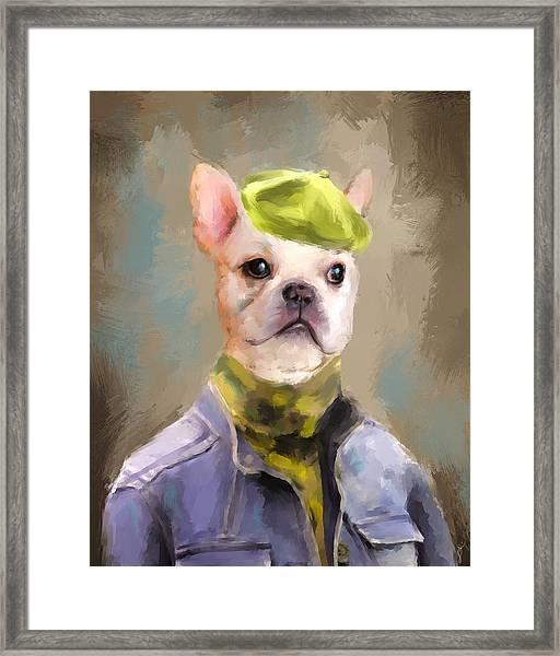 Chic French Bulldog Framed Print
