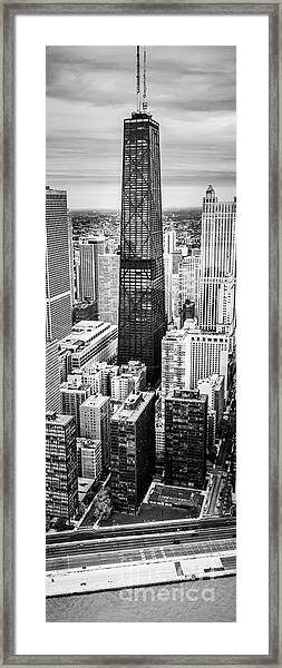 Chicago Aerial Vertical Panoramic Picture Framed Print