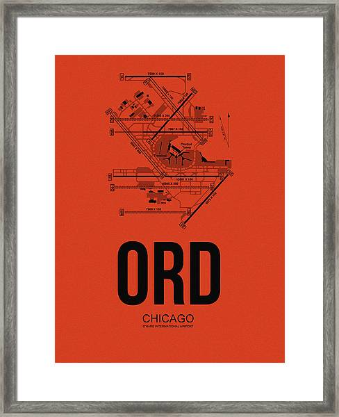 Chicago Airport Poster 1 Framed Print