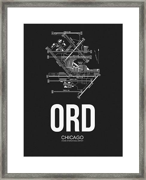 Chicago Airport Poster Framed Print