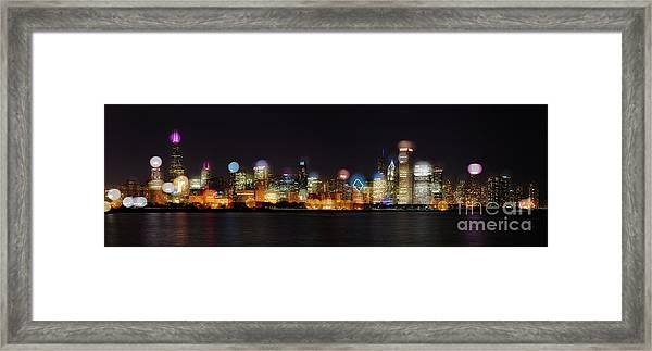 Chicago Bokeh Framed Print