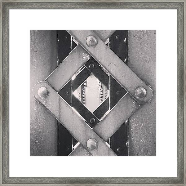 Chicago Bridge Iron Close-up Picture Framed Print