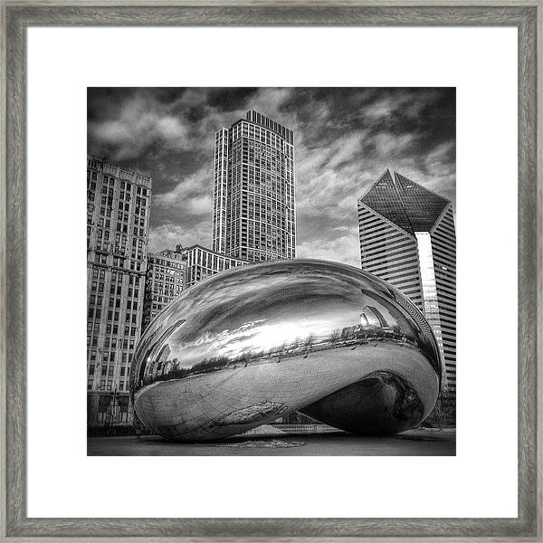 Chicago Bean Cloud Gate Hdr Picture Framed Print