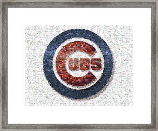 Chicago Cubs Mosaic Framed Print