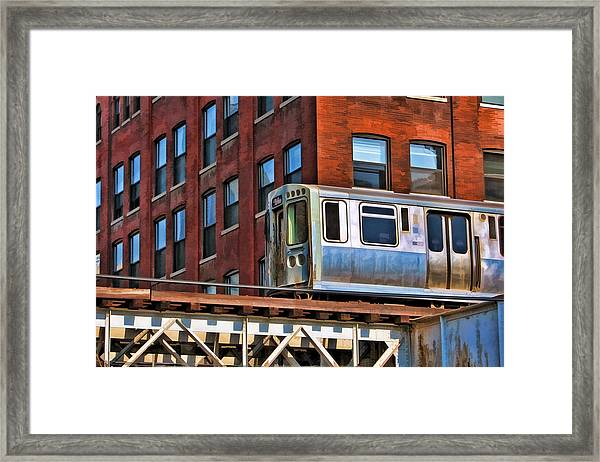 Chicago El And Warehouse Framed Print