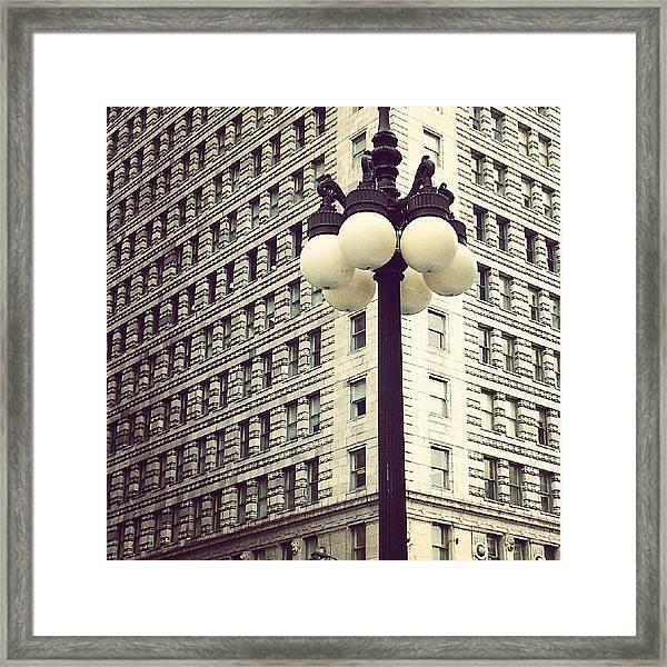 Chicago Lamp Post Framed Print