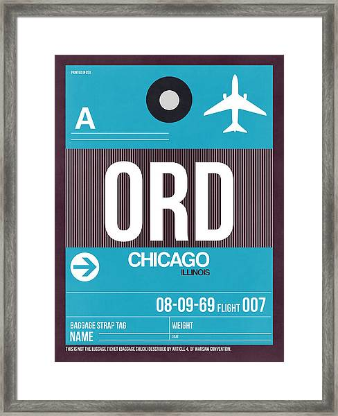 Chicago Luggage Poster 1 Framed Print
