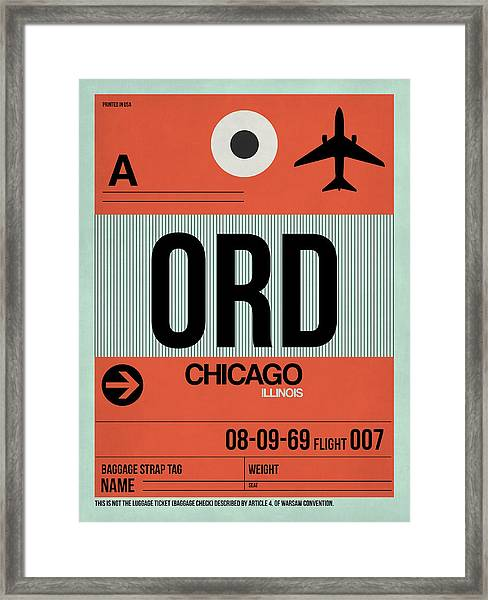 Chicago Luggage Poster 2 Framed Print