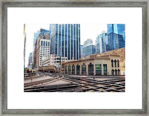 Chicago Rails Framed Print