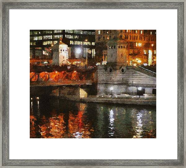 Chicago River At Michigan Avenue Framed Print