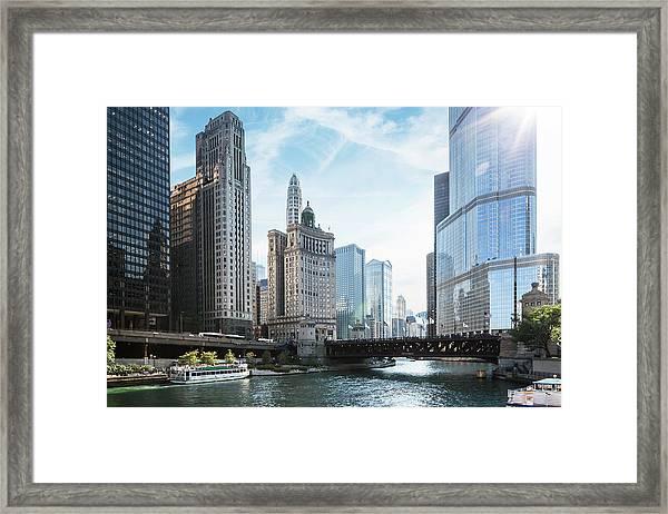 Chicago River Framed Print by Bjarte Rettedal
