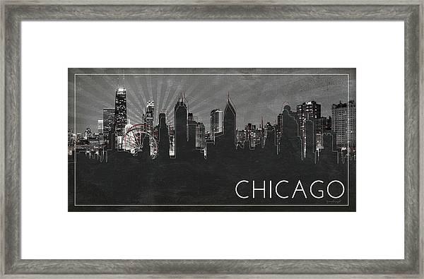 Chicago Silhouette Framed Print