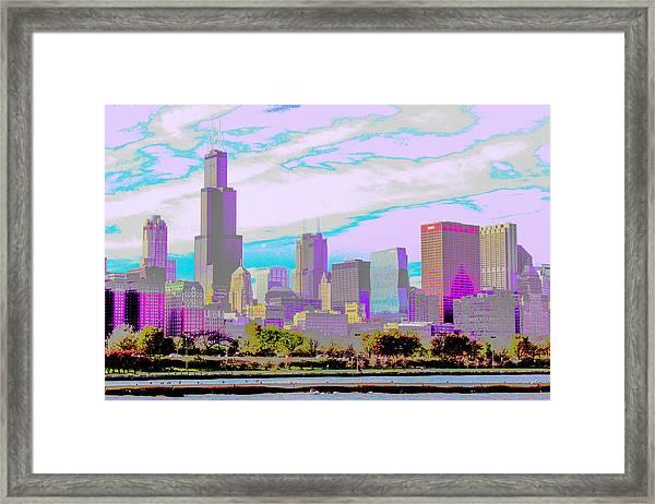 Chicago Skyline 2014 Framed Print