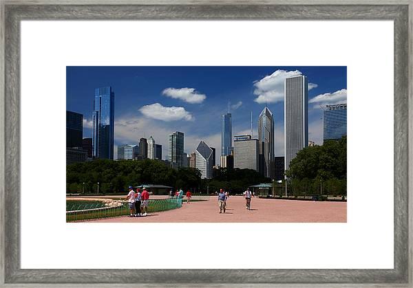Chicago Skyline Grant Park Framed Print
