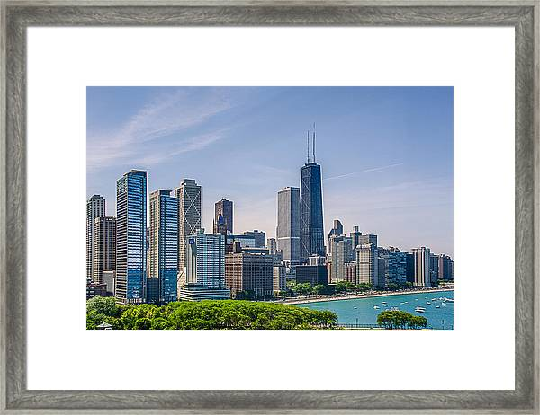 Chicago Skyline North View Framed Print