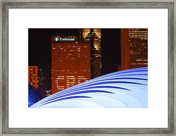 Chicago Skyline Orb Framed Print