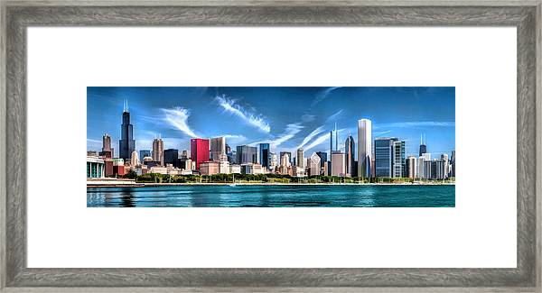 Chicago Skyline Panorama Framed Print