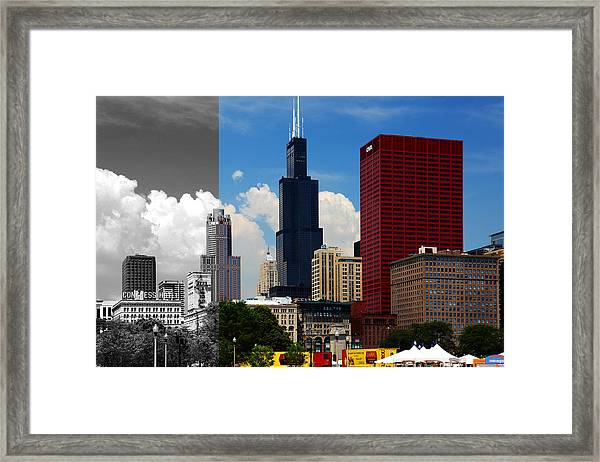 Chicago Skyline Sears Tower Framed Print
