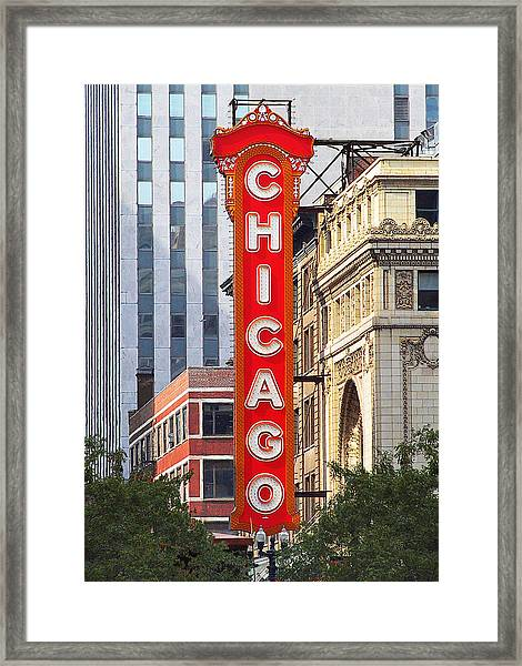 Chicago Theatre - A Classic Chicago Landmark Framed Print
