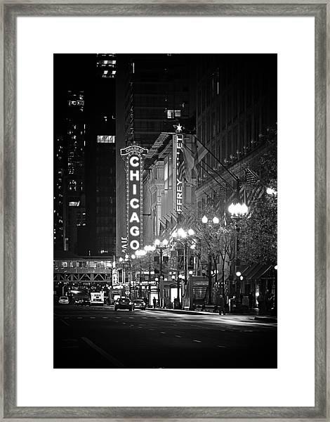 Chicago Theatre - Grandeur And Elegance Framed Print