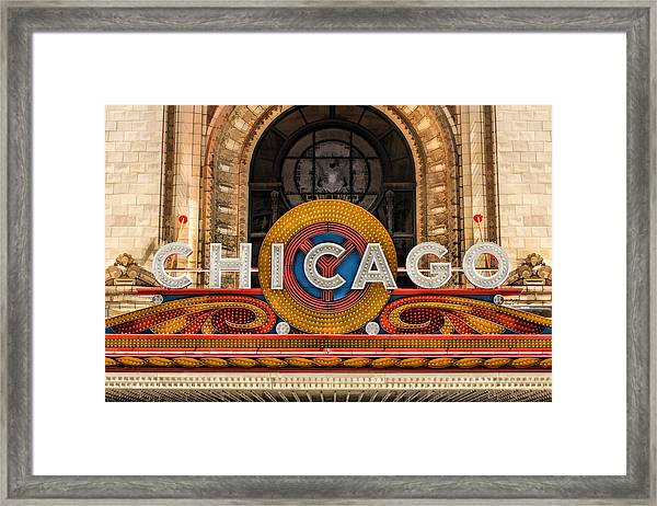 Chicago Theatre Marquee Sign Framed Print