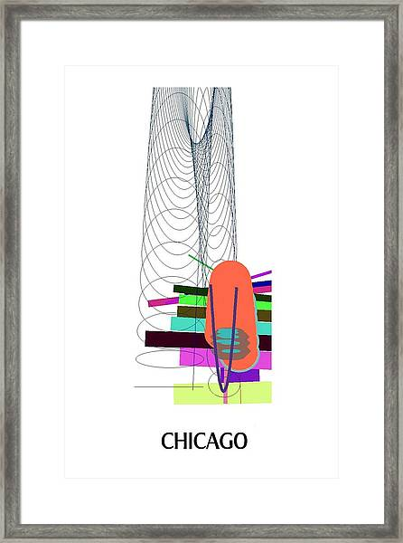 Chicago - Ticker Symbol Jnj Monthly Framed Print