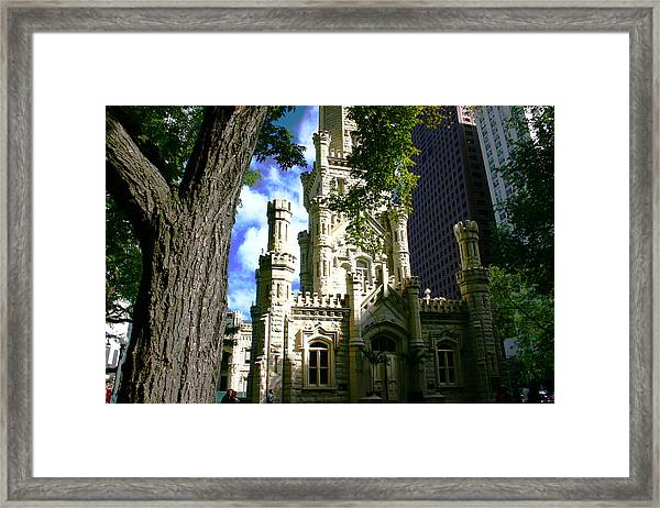 Chicago Water Tower Castle Framed Print
