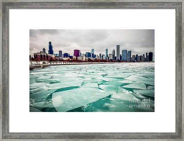 Chicago Winter Skyline Framed Print