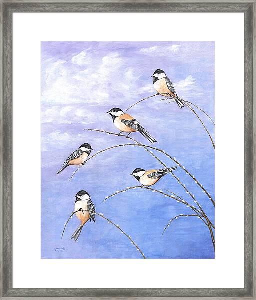 Chickadees Framed Print
