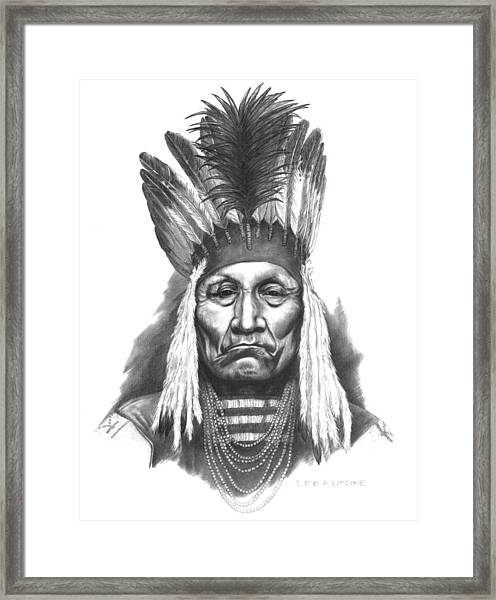 Chief Curly Bear Framed Print