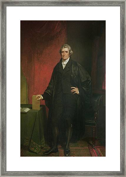 Chief Justice Marshall Framed Print