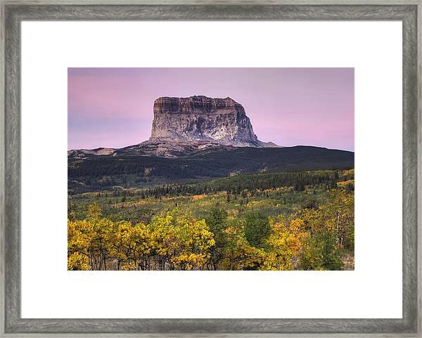 Chief Mountain Sunrise Framed Print