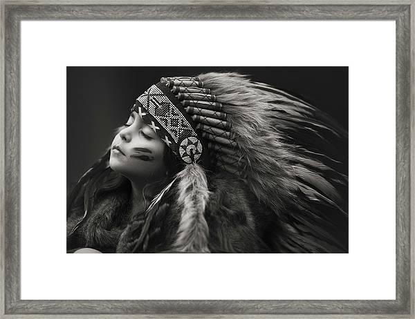 Chief Of Her Dreams Framed Print