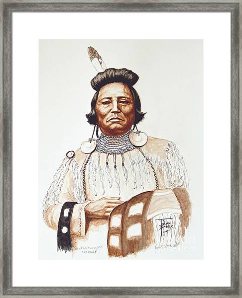 Chief Wolf Necklace Framed Print