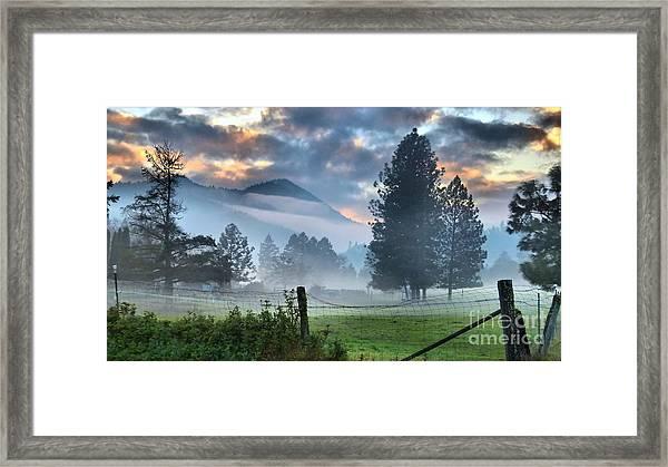 Chiffon Fog Framed Print