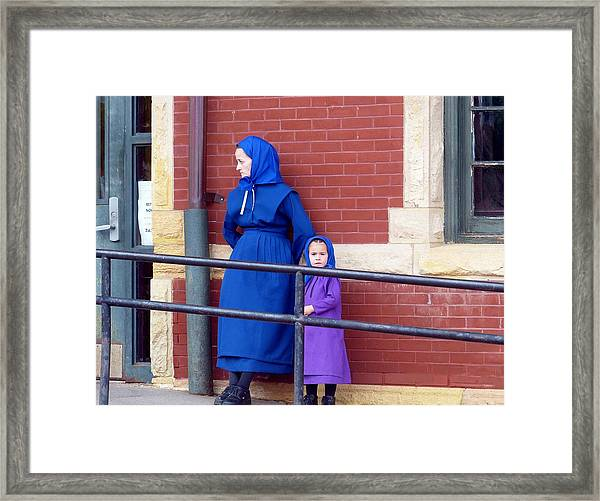 Waiting For The Train Framed Print
