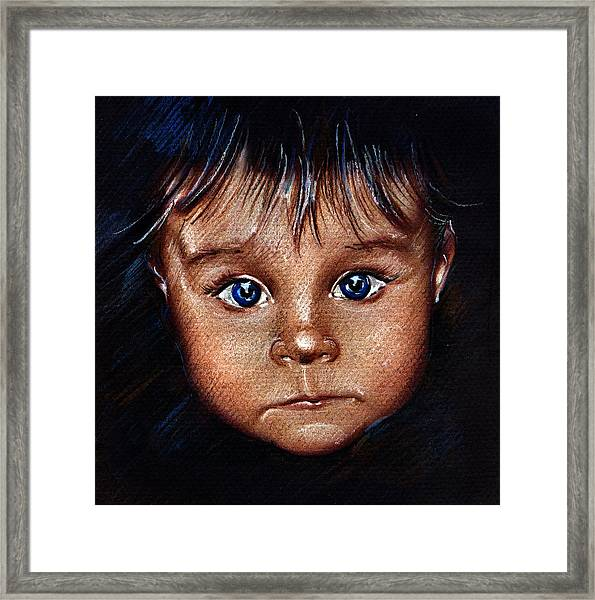 Child Portrait Framed Print