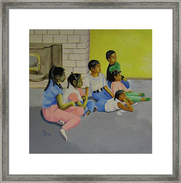 Children's Attention Span  Framed Print