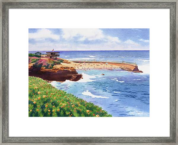 Children's Pool In La Jolla Framed Print by Mary Helmreich