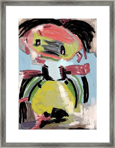 Child's Game Framed Print