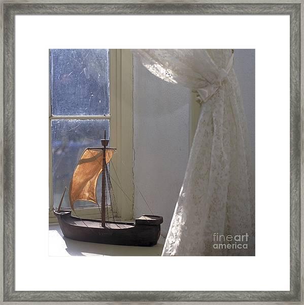 Child's Sailboat Framed Print