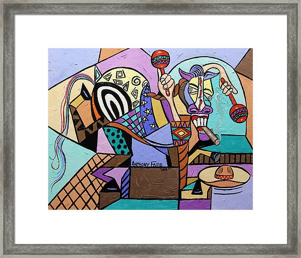 Chilli Pepper Mexican Dancing Horse Framed Print