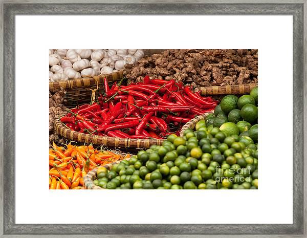 Chillies 01 Framed Print